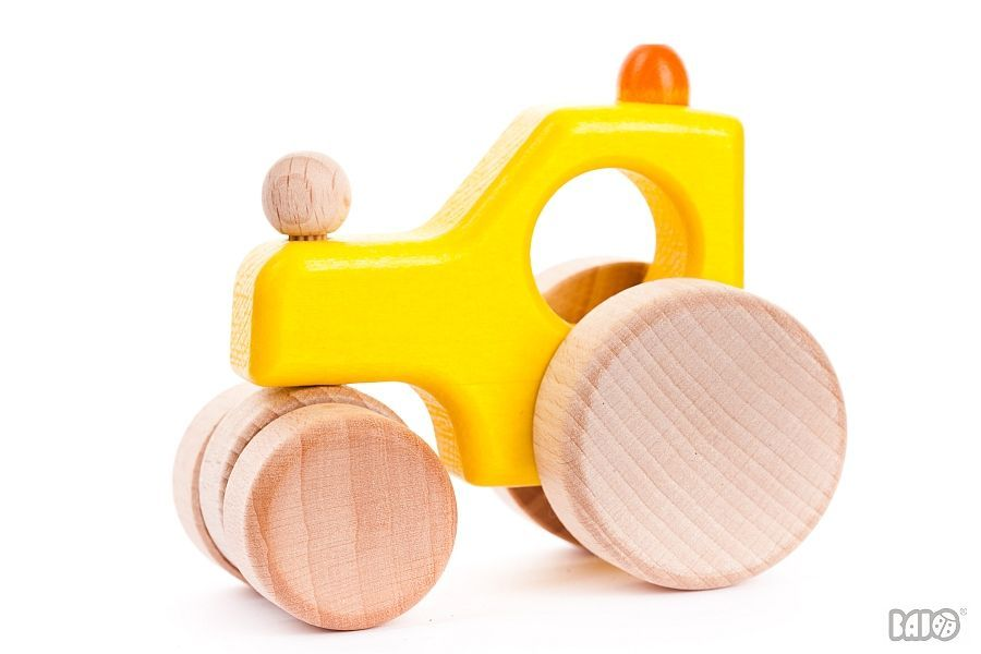Bajo Steamroller Wooden Toy - Yellow