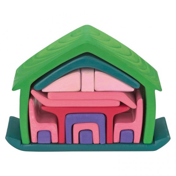 Gluckskafer 16 Piece All In One House - Green