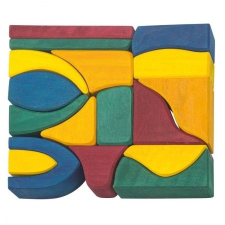 Gluckskafer 17 Piece Colour Building Blocks