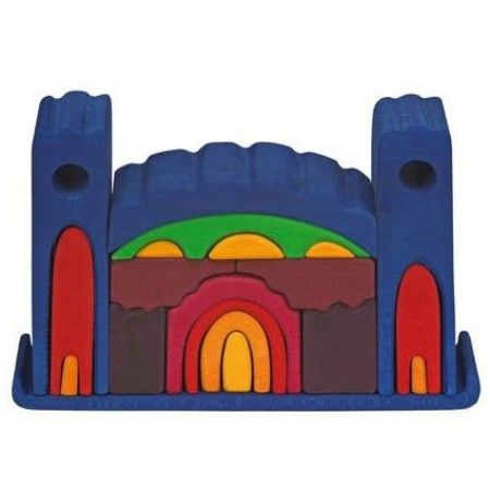 Gluckskafer 22 Piece Big Blue Castle Stacker