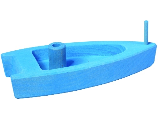 Gluckskafer Blue Air Powered Boat Bath Toy