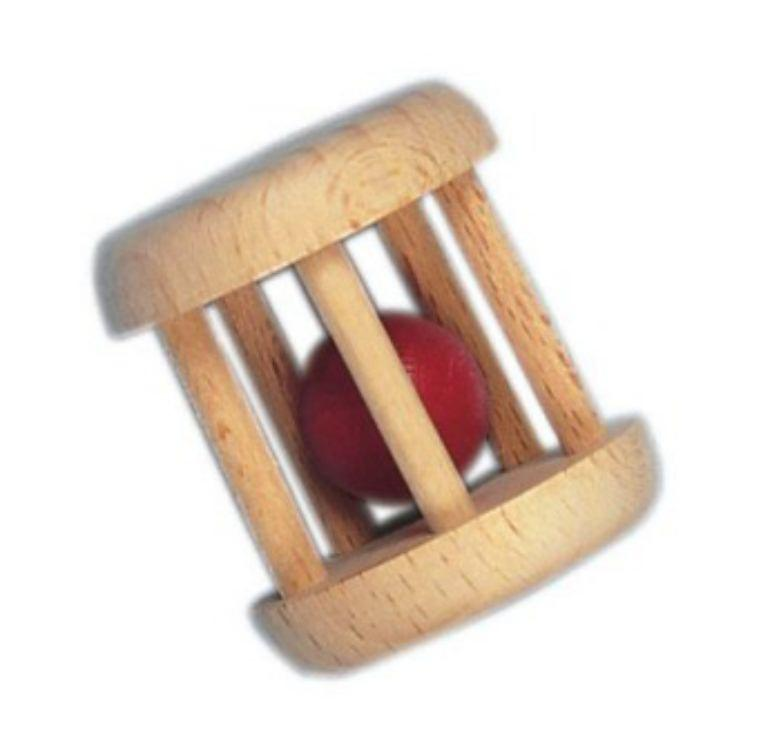 Gluckskafer Wooden Cage Rattle