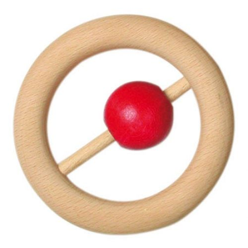 Gluckskafer Wooden Rattle With Ball