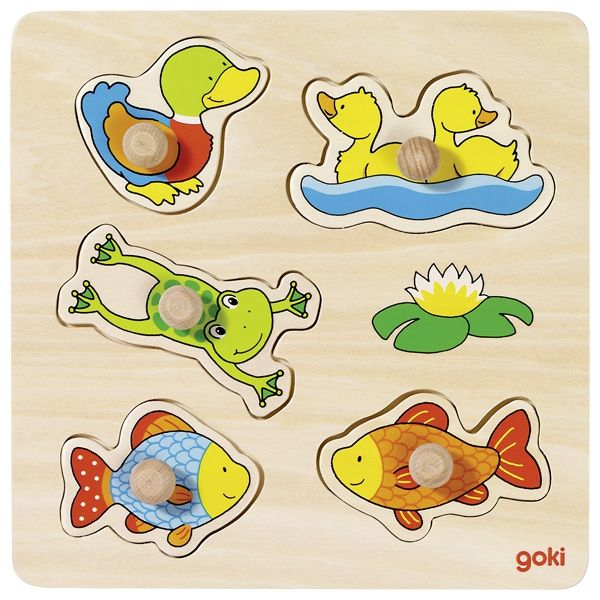 Goki Our Small Pond Wooden Puzzle