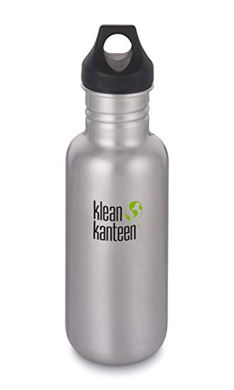 Klean Kanteen Classic Loop Cap 18oz/532ml Bottle - Brushed Stainless