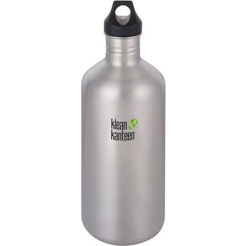 Klean Kanteen Classic Loop Cap 64oz/1900ml Bottle - Brushed Stainless
