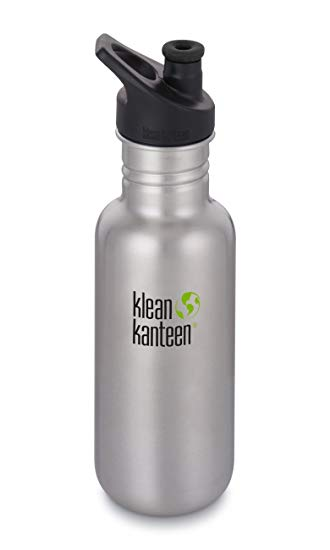 Klean Kanteen Classic Sports Cap Bottle 18oz/532ml - Brushed Stainless