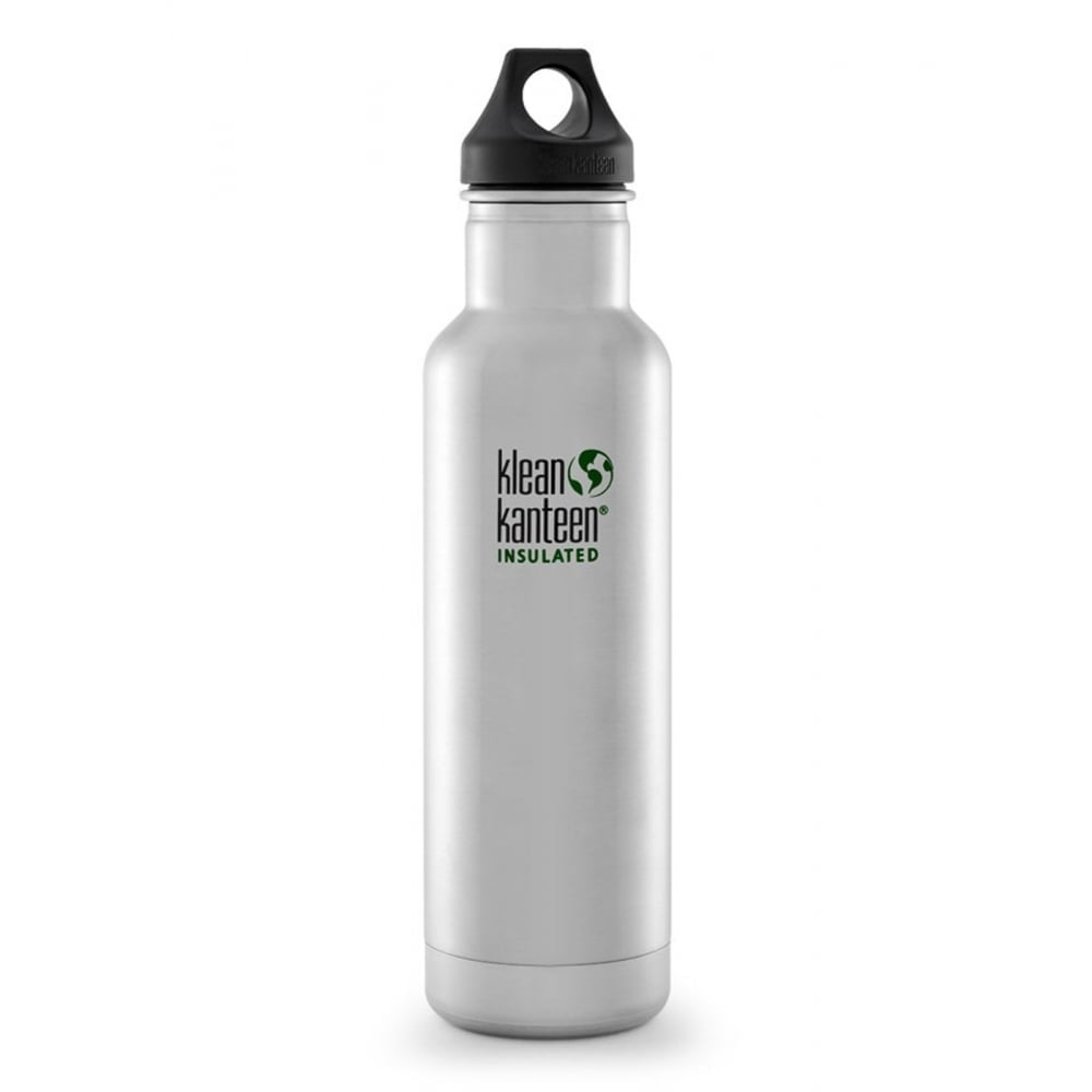 Klean Kanteen Classic Vacuum Insulated Bottle 20oz/592ml - Brushed Stainless