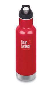 Klean Kanteen Classic Vacuum Insulated Bottle 20oz/592ml - Mineral Red