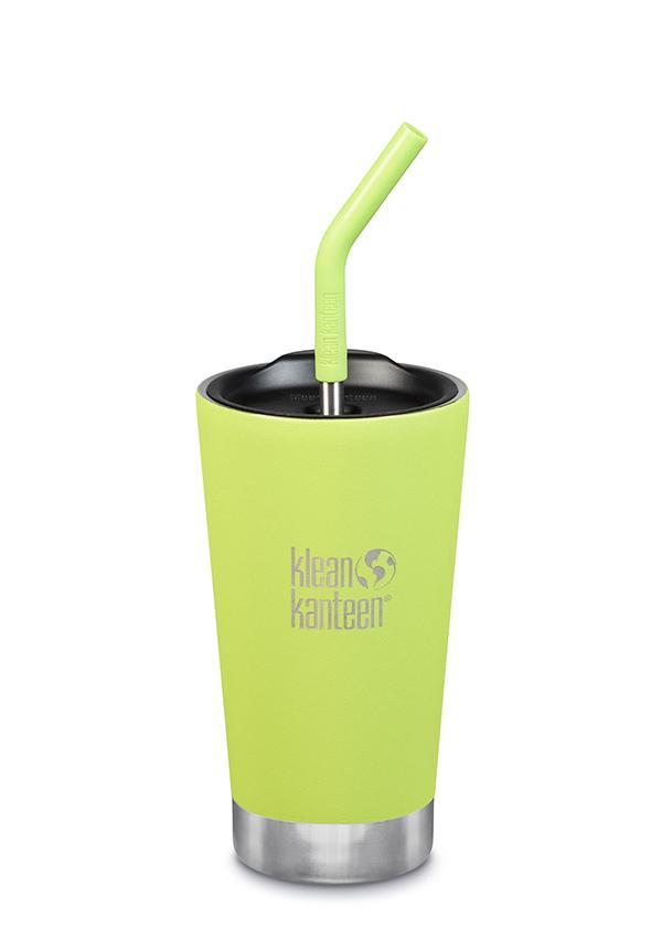 Klean Kanteen Insulated Tumbler 16oz/473mls With Straw Lid - Juicy Pear