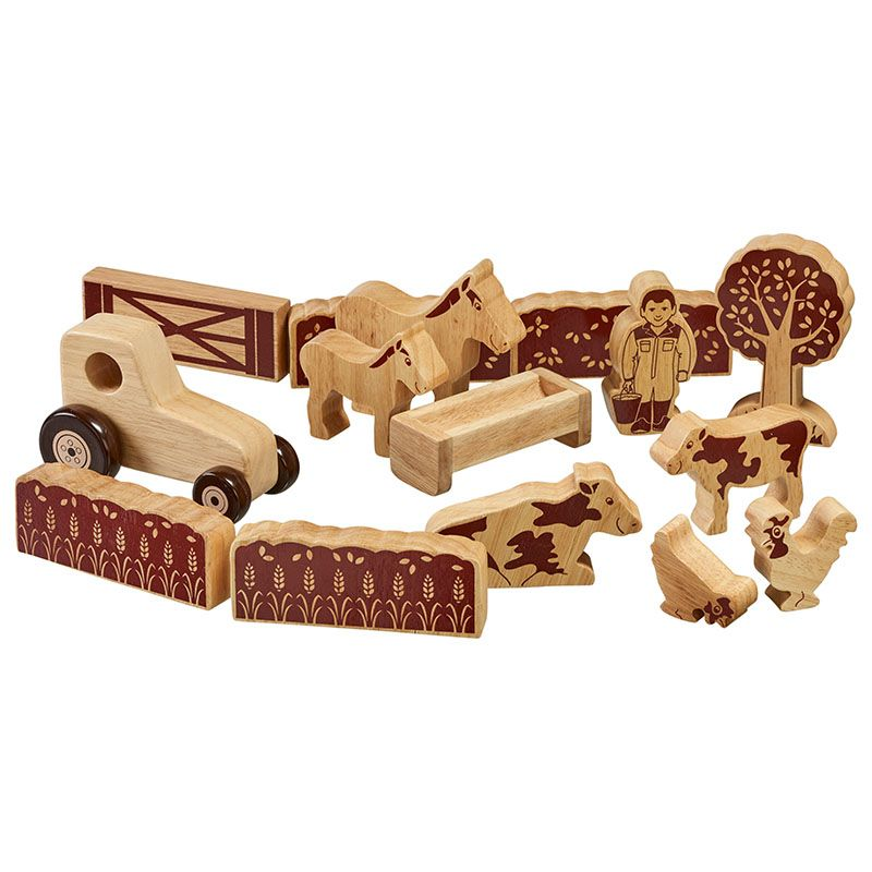 Lanka Kade Wooden Natural 15 Piece Farmers Field Set