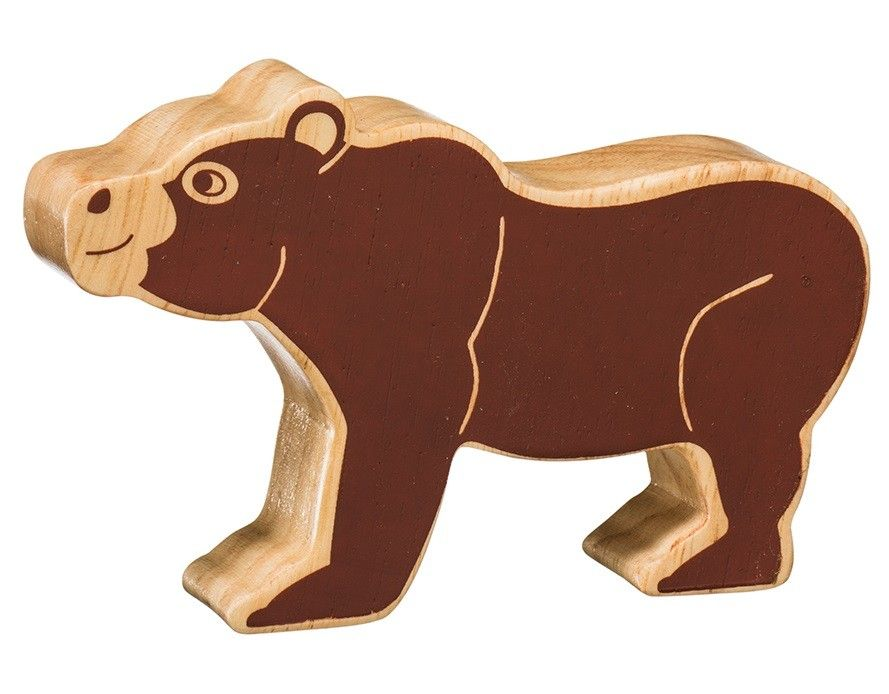 Lanka Kade Wooden Natural Bear Figure