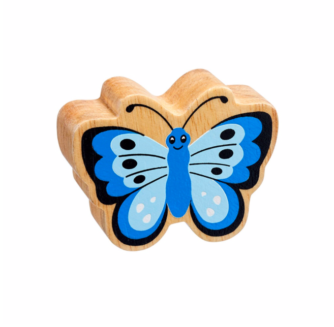 Lanka Kade Wooden Natural Blue Butterfly
