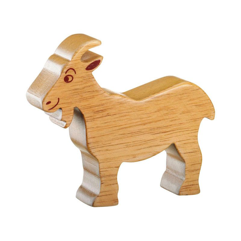 Lanka Kade Wooden Natural Goat Figure