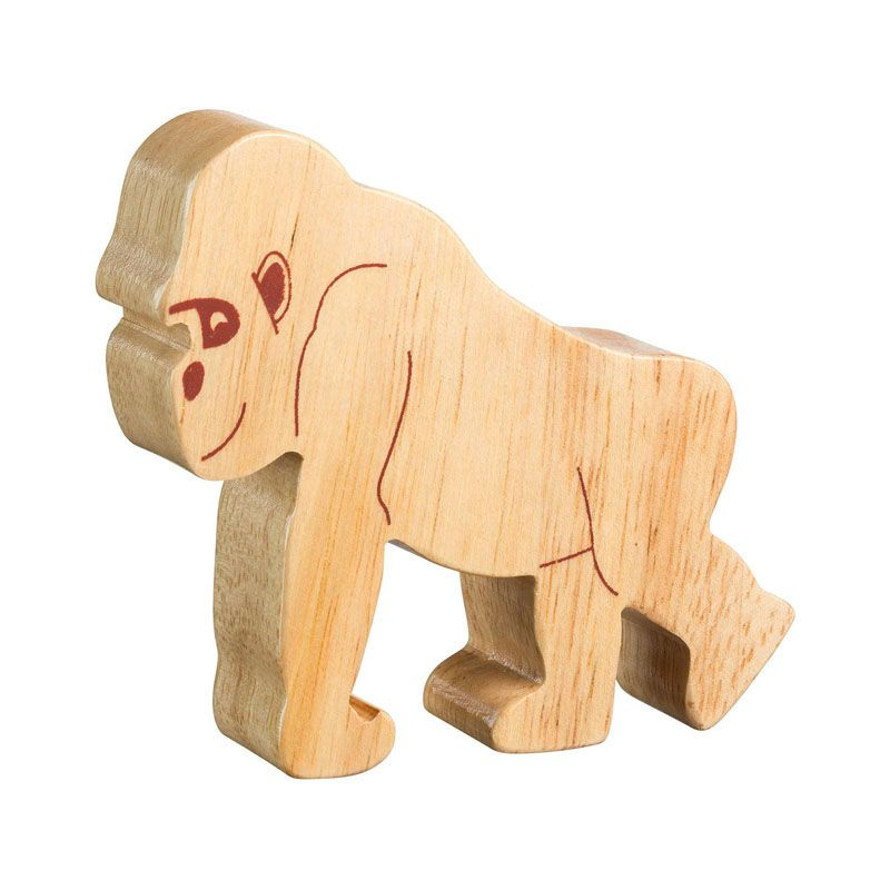 Lanka Kade Wooden Natural Gorilla Figure