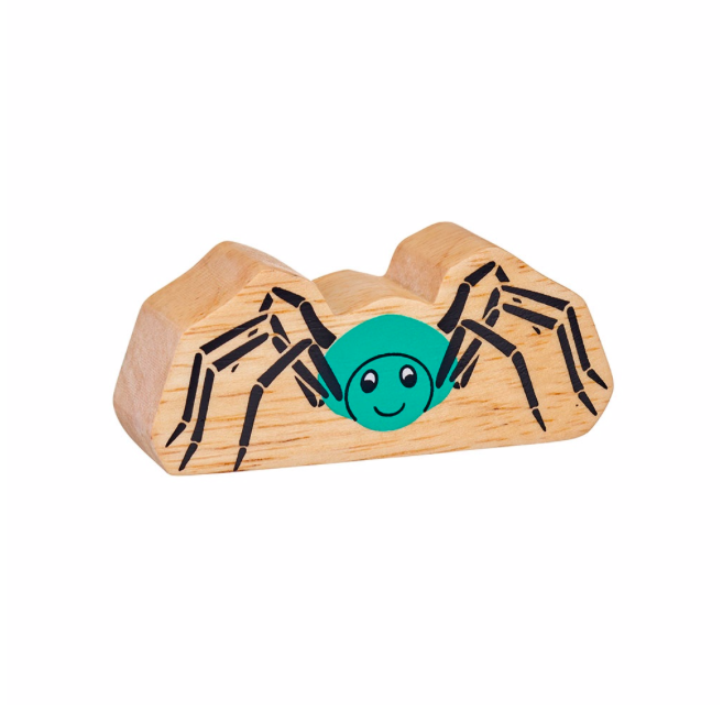 Lanka Kade Wooden Natural Turquoise Spider
