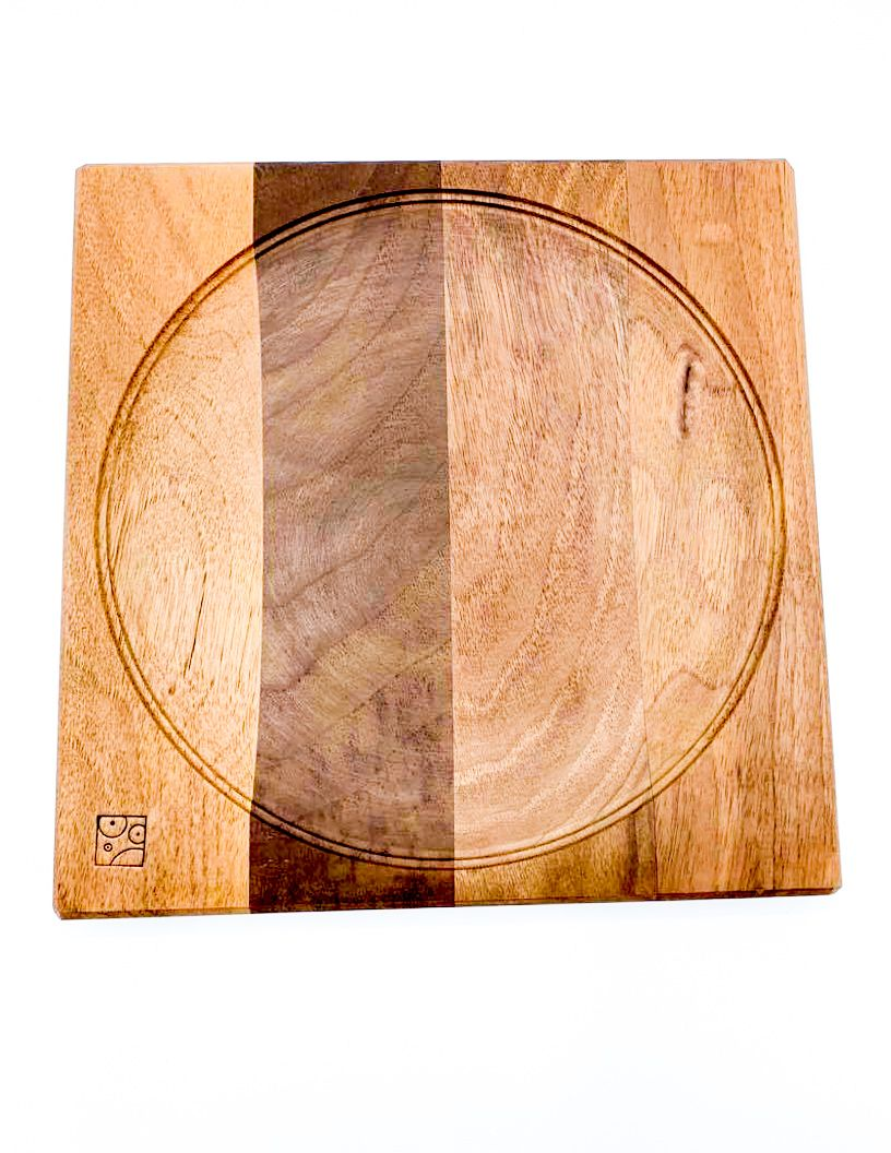 Mader Large Spinning Plate - Walnut