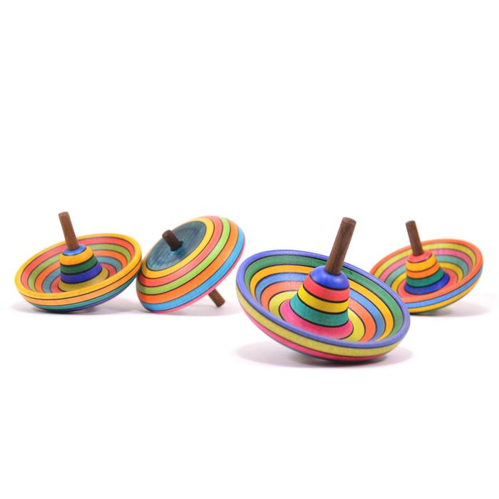 Mader Striped Sombrero Spinning Top