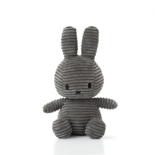 Miffy Corduroy Soft Toy 24cm - Grey