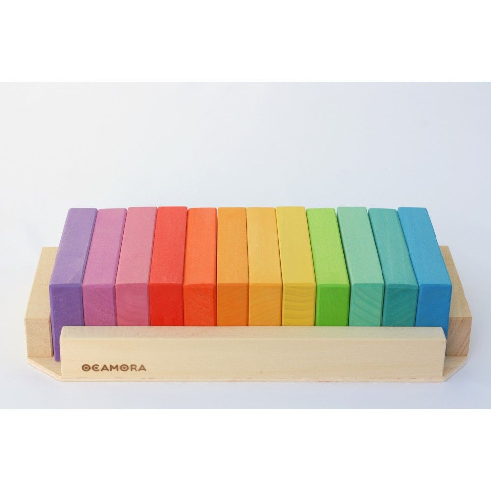 Ocamora Tablitas Pequenas Rainbow Stacking Blocks