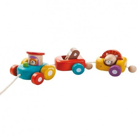 Plan Toys Happy Engine Pull Along Toy