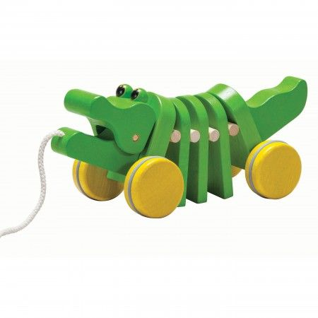 Plan Toys Solid Dancing Alligator Pull Along Toy