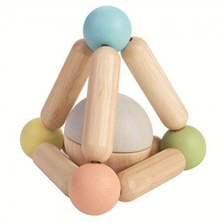 Plan Toys Triangle Clutching Toy - Pastel