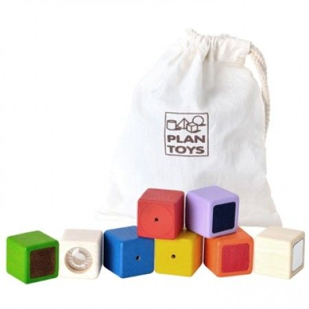 Plan Toys Wooden Baby Activity Blocks