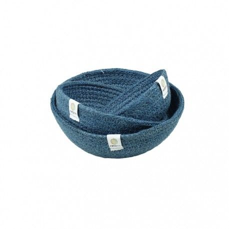 ReSpiin 3pc Jute Bowl Set - Denim