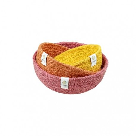ReSpiin 3pc Jute Bowl Set - Fire